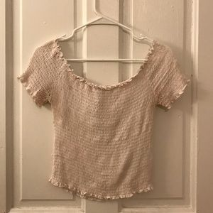 White Heart & Hips Size Large Off the Shoulder Top